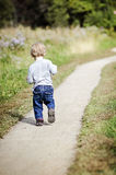 Baby walking Stock Photo