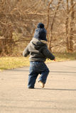Baby walking on path Royalty Free Stock Photography