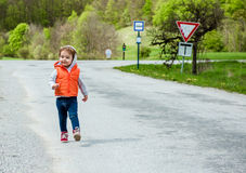 Baby walking Royalty Free Stock Photography
