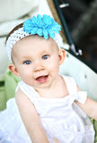 Baby in wandelwagen Royalty-vrije Stock Foto