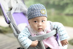 Baby in Wandelwagen Royalty-vrije Stock Foto's