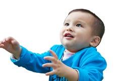 Baby want something interesting Royalty Free Stock Images