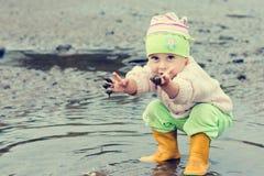 Baby washes Stock Photo
