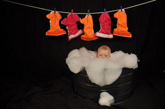 Baby Washing Cloth Diapers Laundry Royalty Free Stock Photos