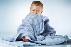 Baby after washing Stock Image