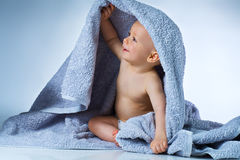 Baby after washing Stock Photography