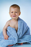 Baby after washing Stock Images