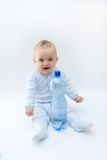 Baby and water Stock Photos