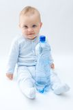 Baby and water Stock Photo