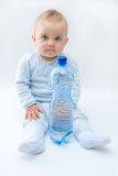 Baby and water Stock Photography