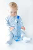 Baby and water Royalty Free Stock Images