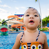 Baby in water park. Stock Photography