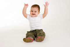 Baby Waving Royalty Free Stock Photos