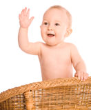 Baby waving right hand Stock Images
