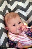 Baby weaning Stock Photo