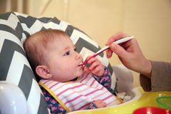 Baby weaning Royalty Free Stock Photography