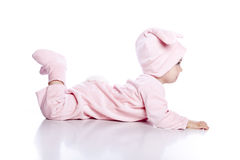 Free Baby Wearing Bunny Suit Isolated Royalty Free Stock Photography - 14538317