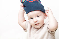 Baby wearing hat Royalty Free Stock Photography