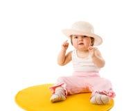 Baby wearing panama Stock Image