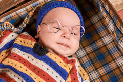 Baby wearing spectacles. Royalty Free Stock Photography