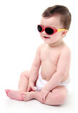 Baby wearing sunglasses Stock Photography