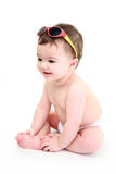 Baby wearing sunglasses Royalty Free Stock Photos