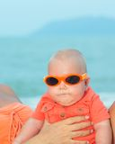 Baby wearing sunglasses Royalty Free Stock Image