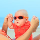 Baby wearing sunglasses Stock Image