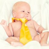 Baby wearing tie Royalty Free Stock Photo