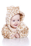 Baby wearing tiger suit Royalty Free Stock Photos