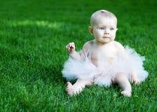 Baby Wearing Tutu - horizontal Stock Photo