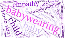Baby Wearing Word Cloud. On a white background Royalty Free Stock Photos