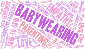 Baby Wearing Word Cloud. On a white background Royalty Free Stock Photo