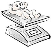 Baby weight stock illustration