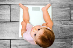Baby weight scale Royalty Free Stock Photo
