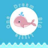 Baby whale Baby room wall Nursery room wall decoration Nursery wall art Stock Images