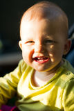 Baby in a wheelchair Royalty Free Stock Images