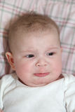 Baby whining Royalty Free Stock Images