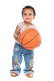 Baby whit basketball Stock Photo