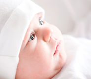 Baby in white Royalty Free Stock Photo