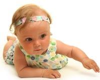 Baby on white Stock Image