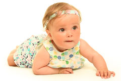 Baby on white Royalty Free Stock Images