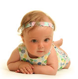 Baby on white Royalty Free Stock Photography