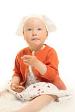 Baby on white Royalty Free Stock Photos