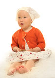 Baby on white Stock Photography