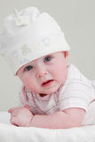 Baby in white Stock Photography