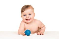 Baby on white Stock Photos