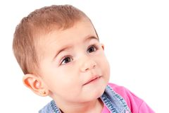 Baby on white background 2 Stock Images