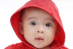 Baby with white background Royalty Free Stock Photography