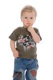 Baby on white background Stock Photos